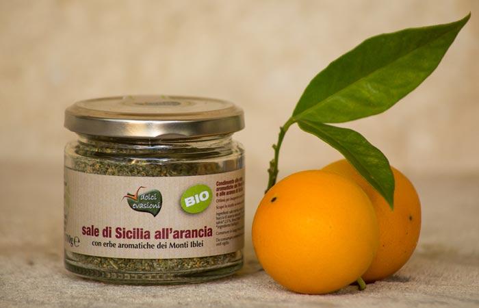 Sale di Sicilia all'arancia 110gr BIO